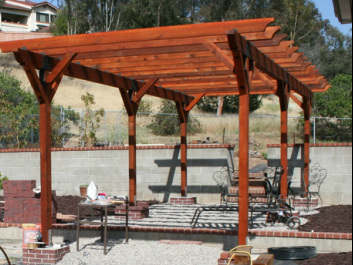 Redwood Arbors Patio Covers Bright Landscapes
